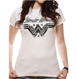 Wonder Woman Movie - Ink Effect - Women Fitted T-shirt White