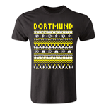 Borussia Dortmund Christmas T-Shirt (Black) - Kids