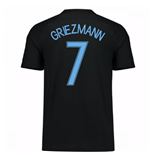 2017-18 France Away Nike Shirt (Black) (Griezmann 7)