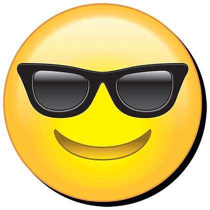 COOL SUNGLASSES EMOJI FUNKY CHUNKY MAGNET PLACEHOLDER