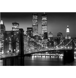 New York Giant Poster - Brooklyn Bridge Night - 100x140 Cm
