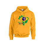 Brazil 2014 Country Flag Hoody (yellow)