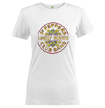 The Beatles Ladies Fashion Tee: Sgt Pepper Drum Colour
