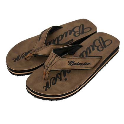 BUDWEISER Brown Sandals