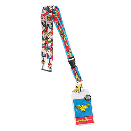 WONDER WOMAN Comic Keychain Lanyard