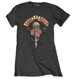 Guns N' Roses Ladies Tee: Dripping Dagger
