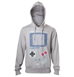 NINTENDO Men's Gameboy Handheld Console Print Hoodie, Large, Grey