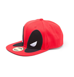 MARVEL COMICS Deadpool Big Face Snapback Baseball Cap, One Size, Red/Black