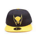 MARVEL COMICS X-Men Wolverine Mask Snapback Baseball Cap, One Size, Black/Yellow