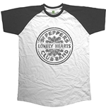 The Beatles Mens Raglan Tee: Sgt Pepper Drum