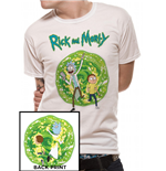 Rick And Morty - Portal Back Print - Unisex T-shirt White