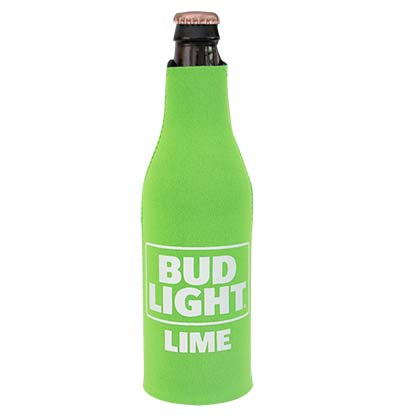 BUD LIGHT Lime Zipper Bottle Cooler
