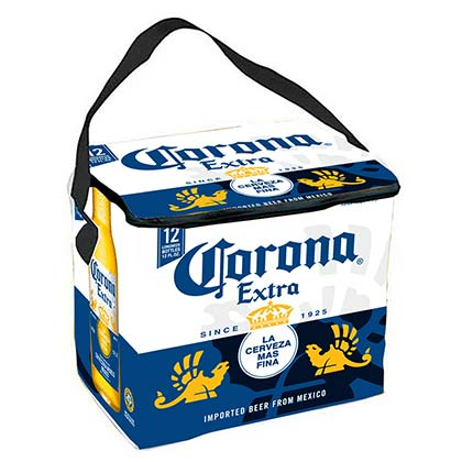 CORONA EXTRA Bottle Label Soft Cooler Bag