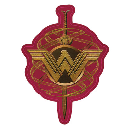 WONDER WOMAN Golden Decal