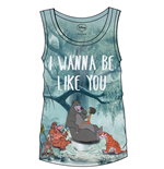 The Jungle Book Sublimation Girlie Tank Top I Wanna Be Like You