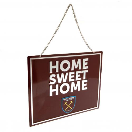 West Ham United F.C. Home Sweet Home Sign