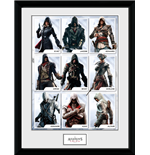 Assassins Creed Framed Print - Compilation Characters - 30x40cm