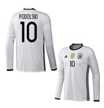 2016-2017 Germany Long Sleeve Home Shirt (Podolski 10)