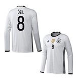 2016-2017 Germany Long Sleeve Home Shirt (Ozil 8)