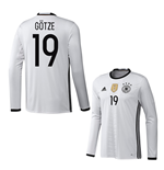 2016-2017 Germany Long Sleeve Home Shirt (Gotze 19)