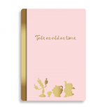 Beauty and the Beast A5 Notebook Floral Pink