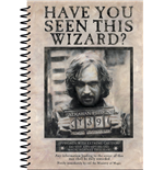 Harry Potter Notebook A5 Wanted Sirius Black