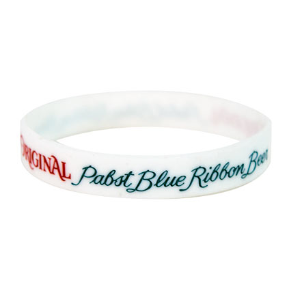 Pabst Blue Ribbon Silicone Wristband