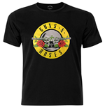 Guns N' Roses Men's Fashion Tee: Circle Logo with Foiled Application
