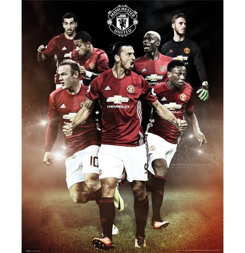 Manchester United - Players 16/17 Mini Poster (40x50 Cm)
