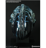 Aliens Replica 1/1 Alien Warrior Head Blue Edition 45 cm