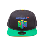 NINTENDO Original N64 Logo Snapback Baseball Cap, One Size, Multi-colour