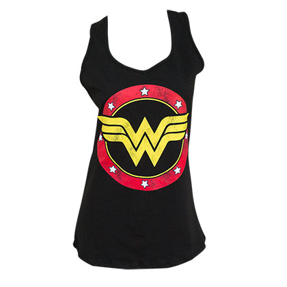 WONDER WOMAN Racerback Black Ladies Tank Top