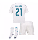 2017-17 Real Madrid Home Full Kit (Morata 21)