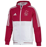 2017-2018 Ajax Adidas Presentation Jacket (Red)