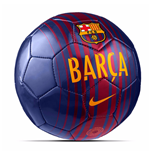 2017-2018 Barcelona Nike Skills Football (Red-Blue)