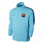 2017-2018 Barcelona Nike Authentic Franchise Jacket (Blue)
