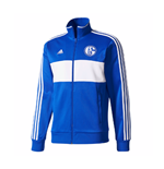 2017-2018 Schalke Adidas 3 Stripe Track Top (Blue)