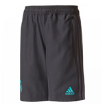 2017-2018 Real Madrid Adidas Woven Shorts (Black) - Kids