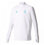 2017-2018 Real Madrid Adidas Training Top (White)