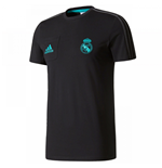 2017-2018 Real Madrid Adidas Training Tee (Black)