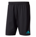 2017-2018 Real Madrid Adidas Training Shorts (Black) - Kids