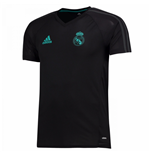 2017-2018 Real Madrid Adidas Training Shirt (Black)