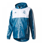2017-2018 Real Madrid Adidas 3S Windbreaker (Dark Grey)