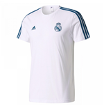 2017-2018 Real Madrid Adidas 3S Tee (White)