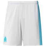 2017-2018 Olympique Marseille Adidas Home Shorts (White)