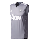 2017-2018 Man Utd Adidas Sleeveless Training Shirt (Grey)