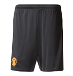 2017-2018 Man Utd Adidas Home Shorts Black (Kids)