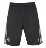 2017-2018 Man Utd Adidas Training Shorts (Night Grey) - Kids