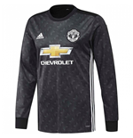 2017-2018 Man Utd Adidas Away Long Sleeve Shirt