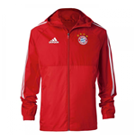 2017-2018 Bayern Munich Adidas Rain Jacket (Red)